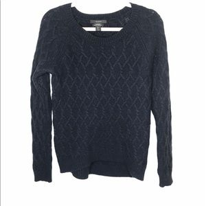 Tahari pure luxe cashmere blend cable knit sweater